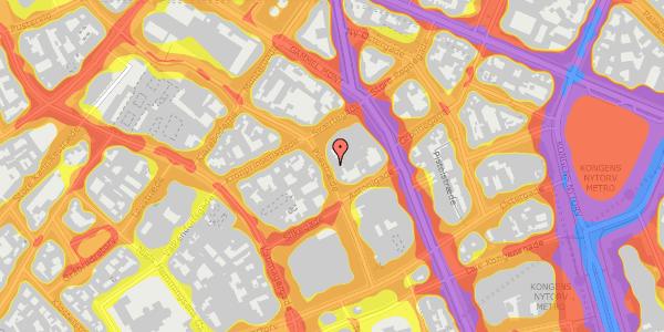 Trafikstøjkort på Pilestræde 30B, 1112 København K