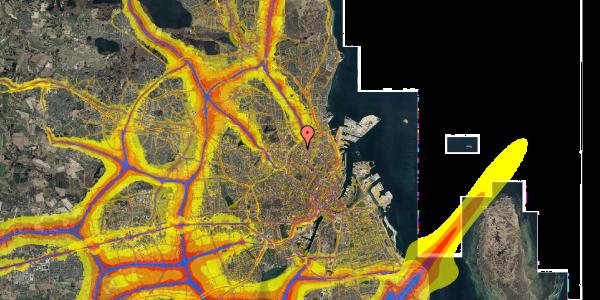 Trafikstøjkort på Vermundsgade 38F, 1. th, 2100 København Ø