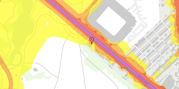 Trafikstøjkort på Øster Allé 33, 1. , 2100 København Ø
