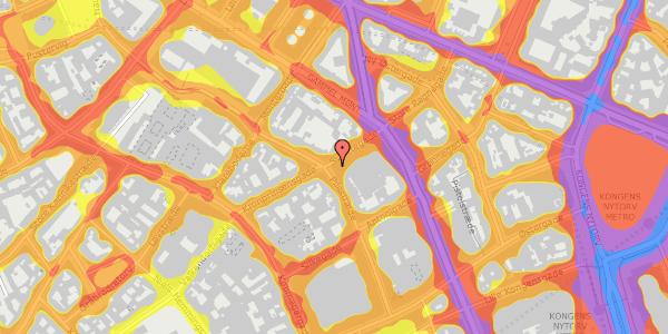 Trafikstøjkort på Pilestræde 36, 3. , 1112 København K