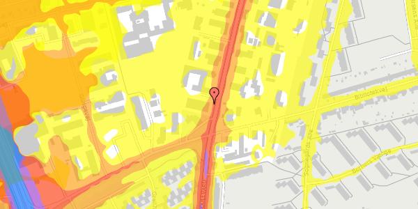 Trafikstøjkort på Arnold Nielsens Boulevard 72, 1. , 2650 Hvidovre