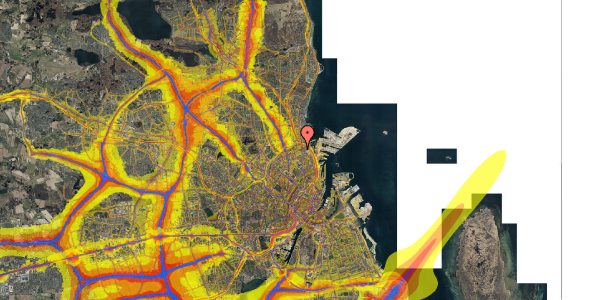 Trafikstøjkort på Nygårdsvej 16B, 4. , 2100 København Ø
