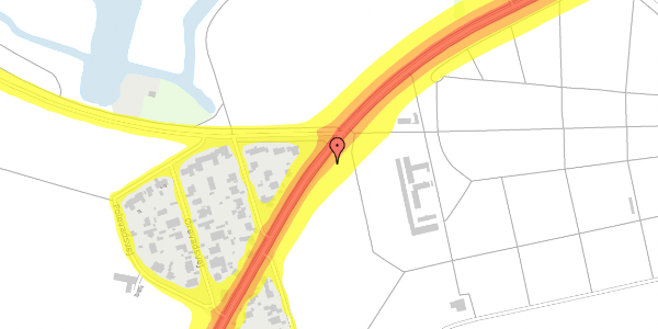 Trafikstøjkort på Rådvadsvej 60, 2400 København NV