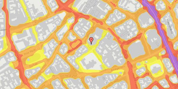Trafikstøjkort på Niels Hemmingsens Gade 24, 2. , 1153 København K