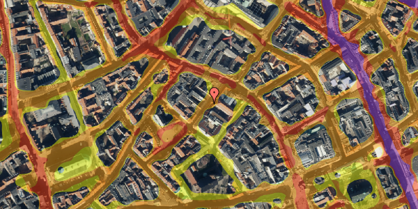 Trafikstøjkort på Løvstræde 3, 2. , 1152 København K
