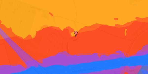 Trafikstøjkort på Golfsvinget 16, 2625 Vallensbæk