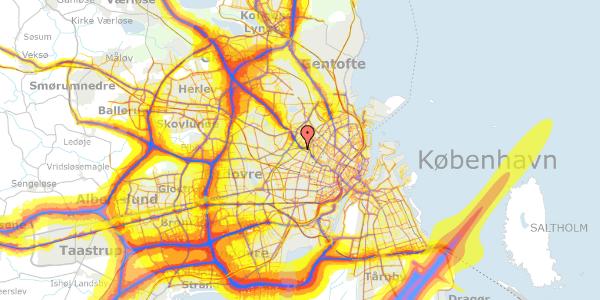 Trafikstøjkort på Rabarbervej 6, 2. 13, 2400 København NV