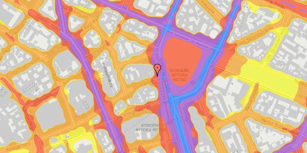 Trafikstøjkort på Østergade 2A, 3. , 1100 København K