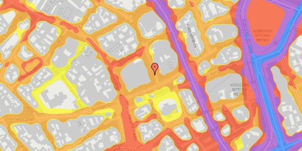 Trafikstøjkort på Pilestræde 3, 1112 København K