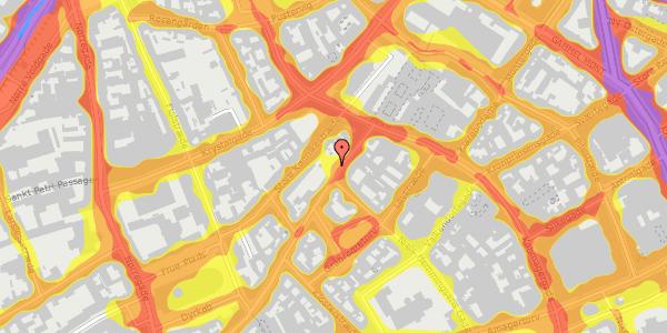 Trafikstøjkort på Skindergade 10, 1159 København K