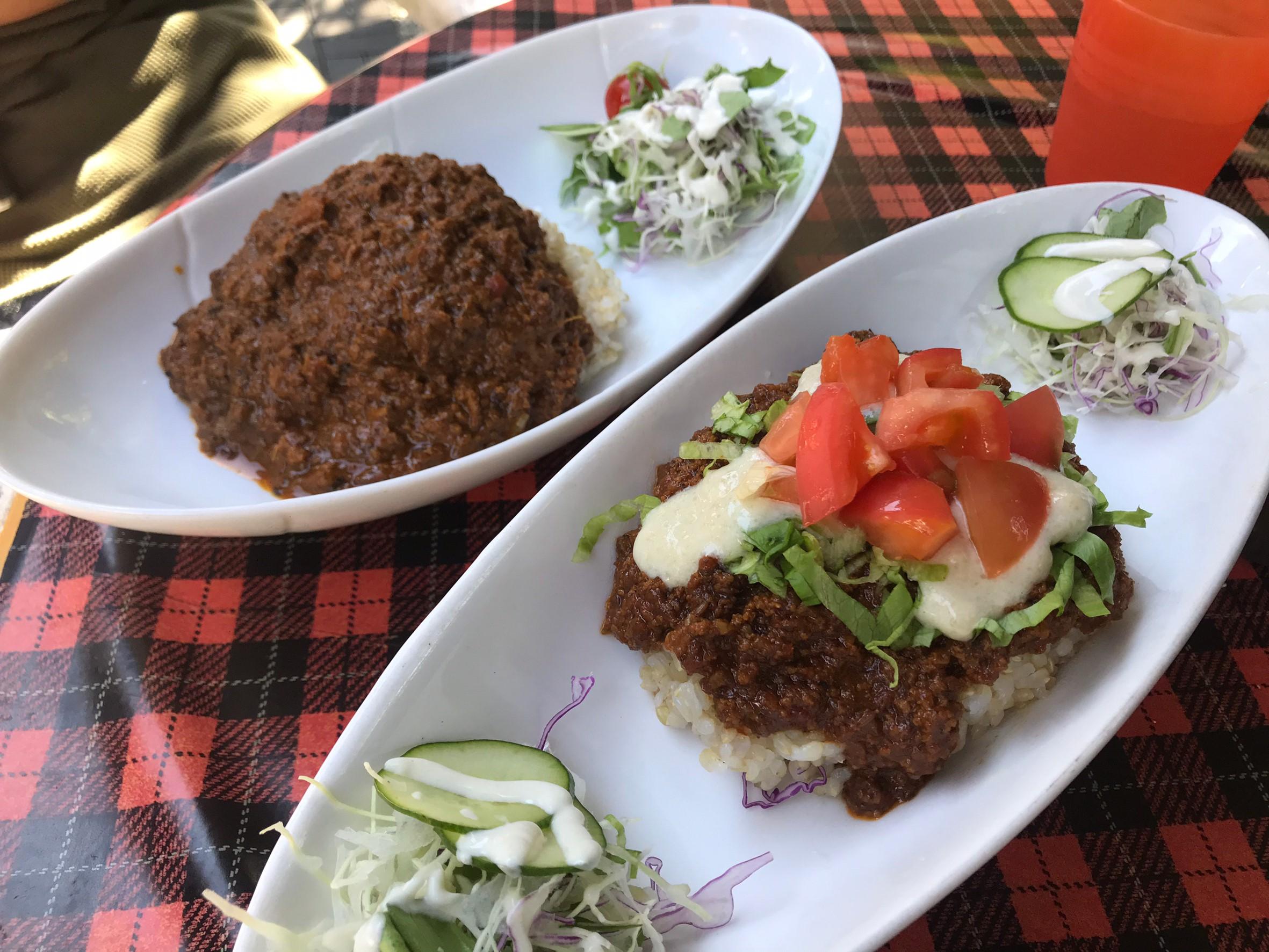 Vegan curry, Vegan taco rice