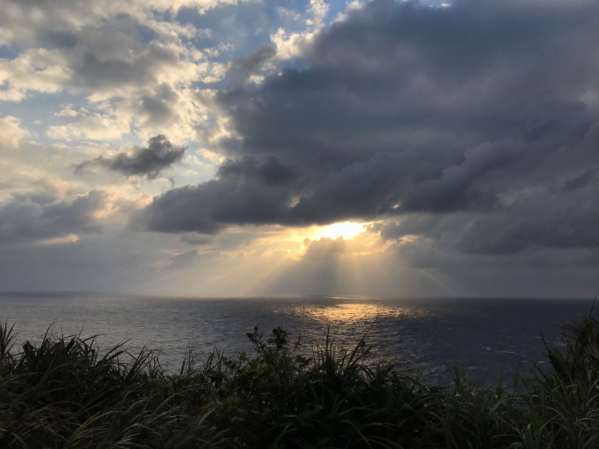 the westernmost tip of Japan sunset
