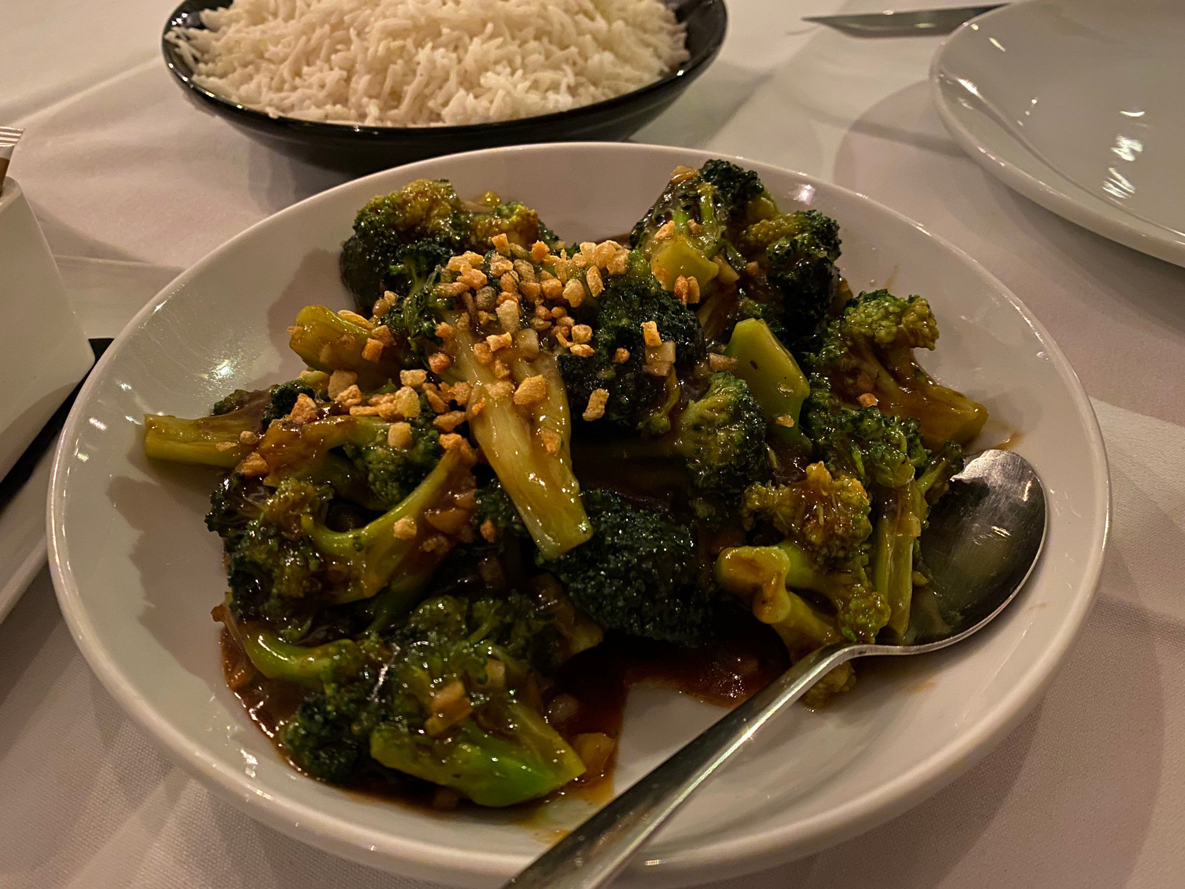 fried broccoli with oyster
