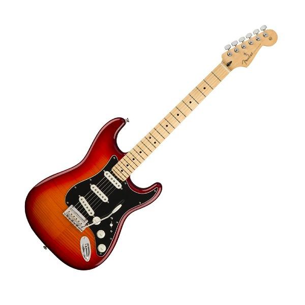 undefined Guitare Électrique Fender Player Stratocaster Plus Top érable - Aged Cherry Burst