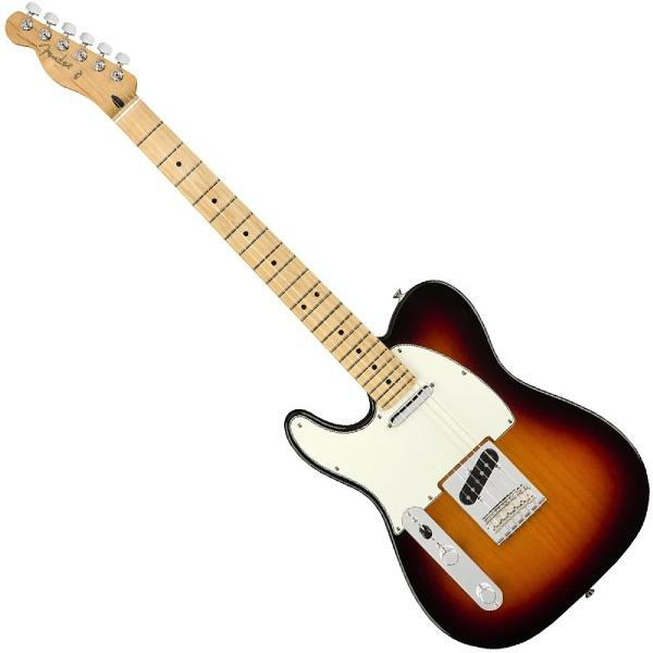 undefined Guitare Electrique Fender Player Telecaster gauchère érable - 3 tone Sunburst