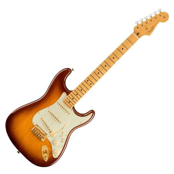 undefined Fender Stratocaster édidion commémorative du 75e anniversaire, touche en érable - 2 couleurs Bourbon Burst