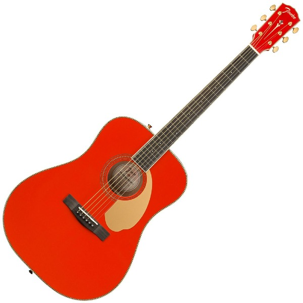 undefined Guitare Acoustique Fender PM-1 Dreadnought Édition Limitée - Fiesta red