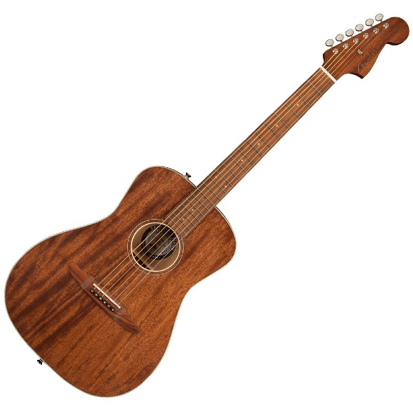 undefined Guitare Fender Malibu Special avec étui, tout en acajou, touche Pau Ferro - Naturel