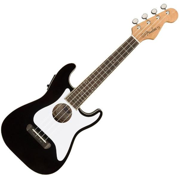 undefined Ukulélé Fender Stratocaster de la série Fullerton - Noir