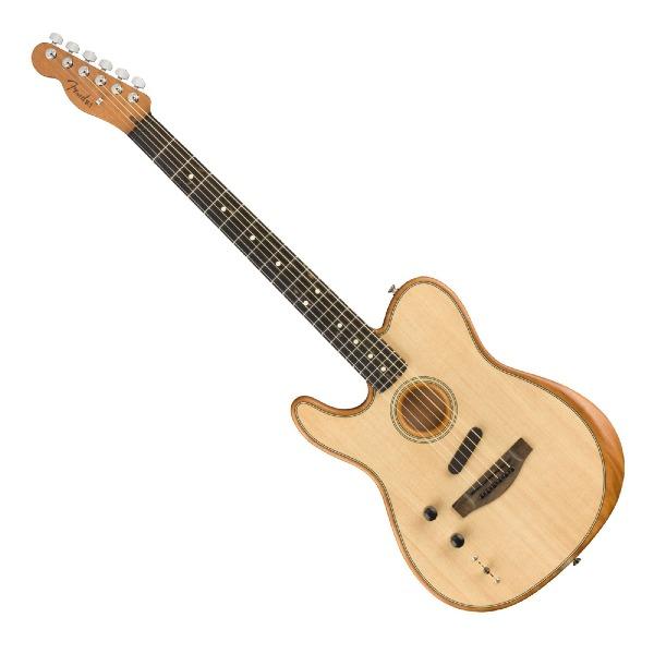 undefined Guitare acoustique gauchère Acoustasonic Telecaster américaine Fender 097-2018-221