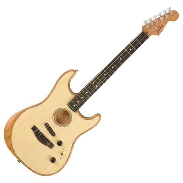 undefined Guitare Fender Stratocaster Acoustasonic, touche en ébène - Naturel