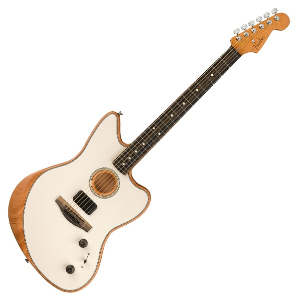 undefined Fender Guitare American Acoustasonic Jazzmaster, touche en ébène - Artic White