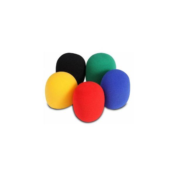 undefined Ensemble de bonnettes pour microphone (5 couleurs) On-Stage ASWS58C5