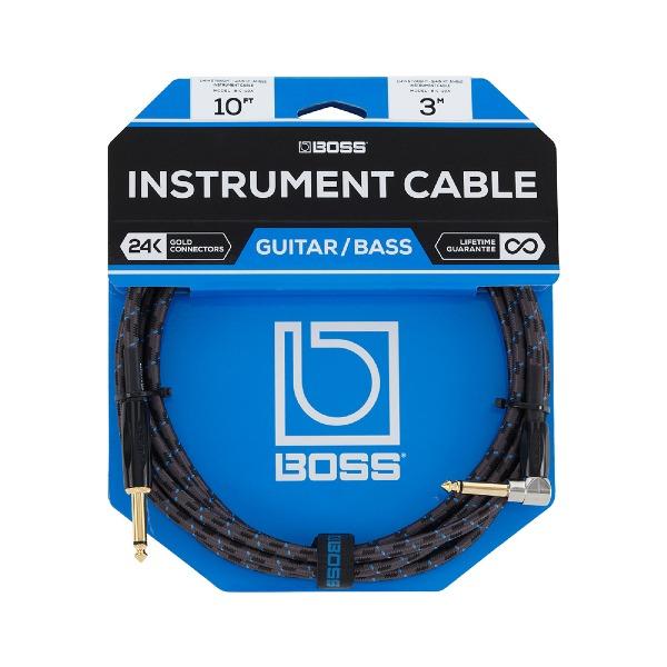 undefined Câble d'instrument à fiches 1/4 à angle, 10 pieds BOSS