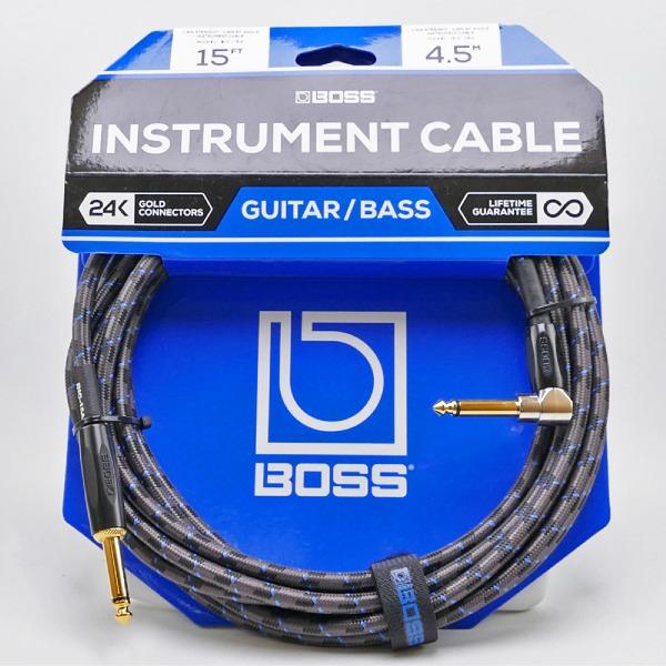 undefined Câble d'instrument à fiches 1/4 à angle, 15 pied BOSS
