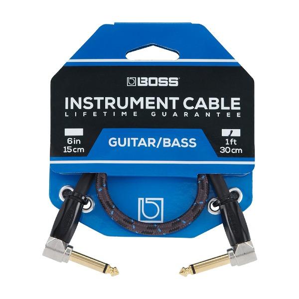 undefined Câble d'instrument à fiches 1/4 à angle, 1 pied BOSS