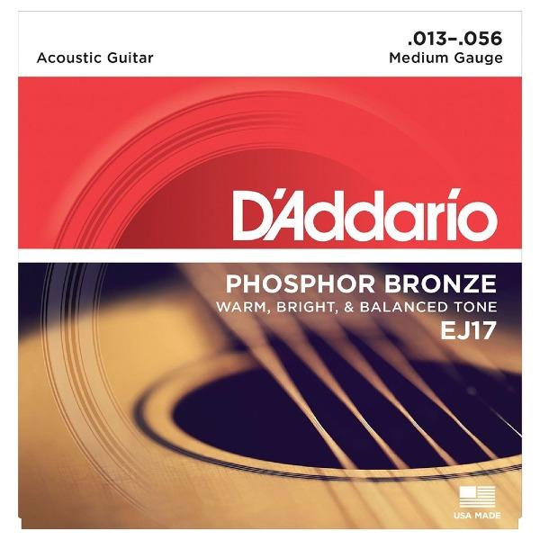 undefined Cordes guitare acoustique phosphore bronze medium 13-56 D'Addario EJ17
