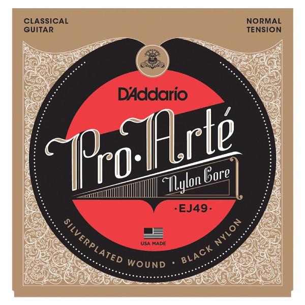 undefined Cordes guitare classique Pro Arte Argent/Noir tension normal D'Addario EJ49