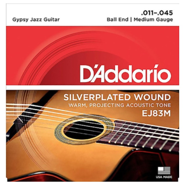 undefined Cordes guitare classique Gypsy Jazz tension Moyen 11-45 D'Addario EJ83M
