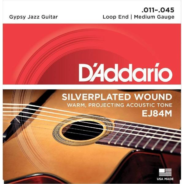 undefined Cordes guitare acoustique Gypsy Jazz à boucle Moyenne 11-45 D'Addario EJ84M