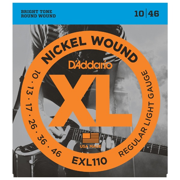 undefined Cordes D'Addario EXL110 - cordes à enroulement nickel REG. LIGHT 10-46