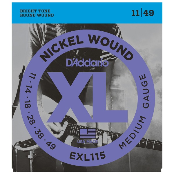 undefined Cordes guitare électrique en nickel 11-49 D'Addario EXL115