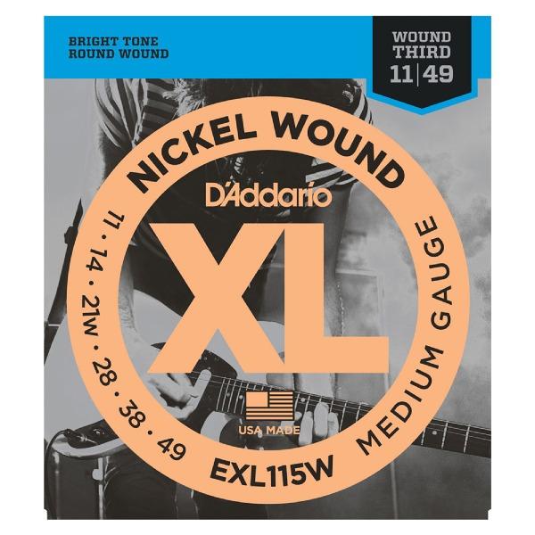 undefined Cordes guitare acoustique nickel avec SOL filée 11-49 D'Addario EXL115W
