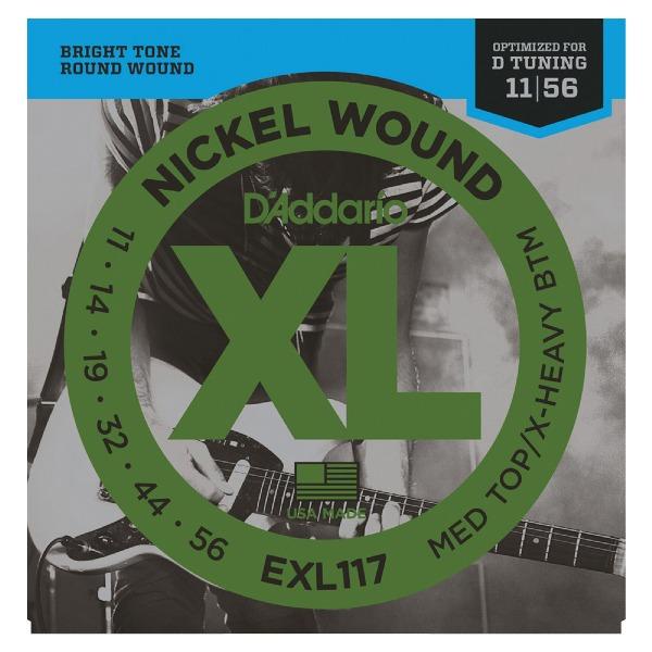 undefined Cordes guitare électrique XL 11-56 D'Addario EXL117