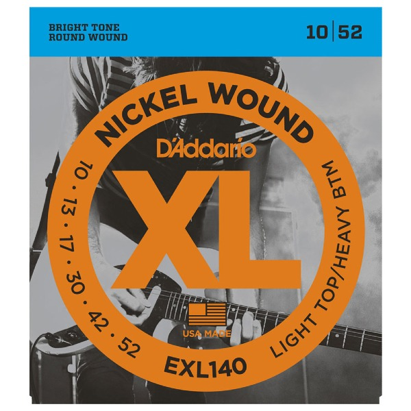 undefined Cordes guitare acoustique en nickel 10-52 D'Addario EXL140