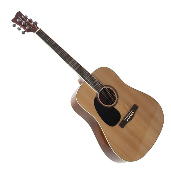 undefined Guitare acoustique gauchère dreadnought naturel Jay Turser JTA524D-LH-N
