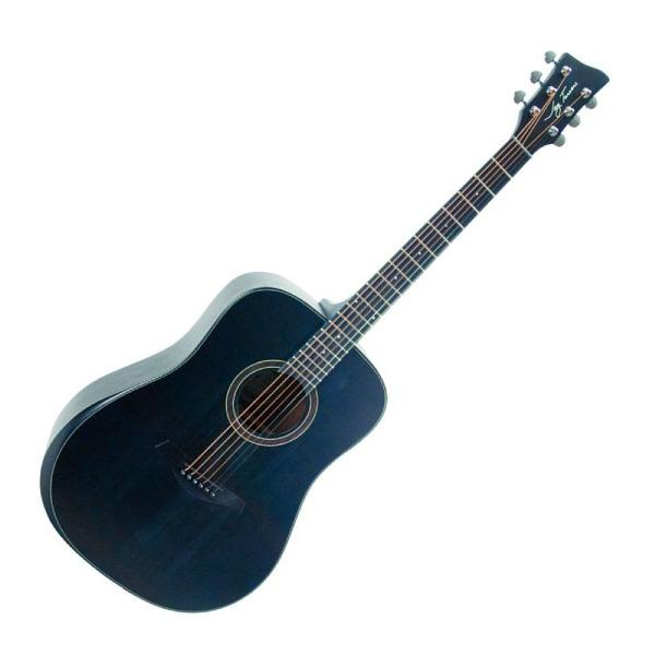 undefined Guitare Jay Turser Dreadnought 6 cordes avec bord biseauté à pores ouverts noir