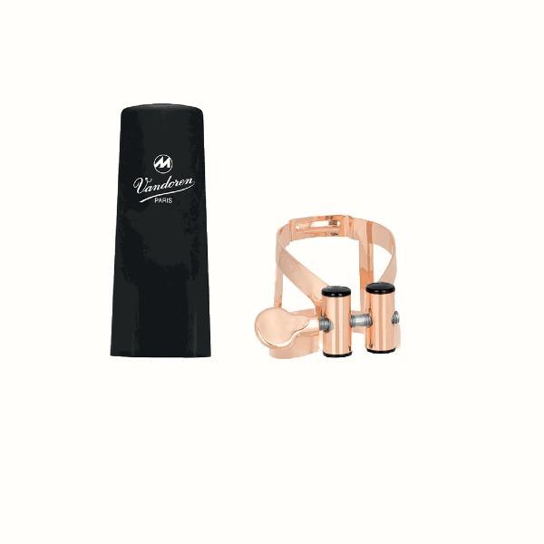 undefined Ligature et  Capuchon de  Clarinette Sib Vandoren MO LC51PGP - Pink Gold Plaqué