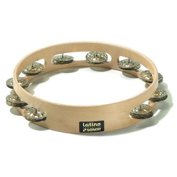 """undefined Tambourine latine double clochettes 10"""" SONOR ORFF LHT"""