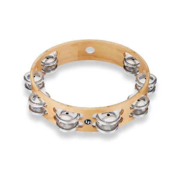 "undefined Tambourine pro 10"" à 2 rangs de clochettes aluminium LATIN PERCUSSION LP380B-AL"