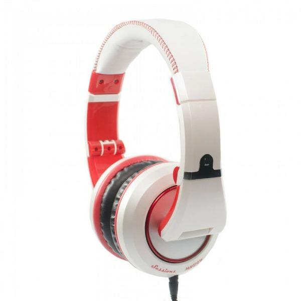 undefined Écouteurs Studio Fermés - Blanc / Rouge CAD AUDIO
