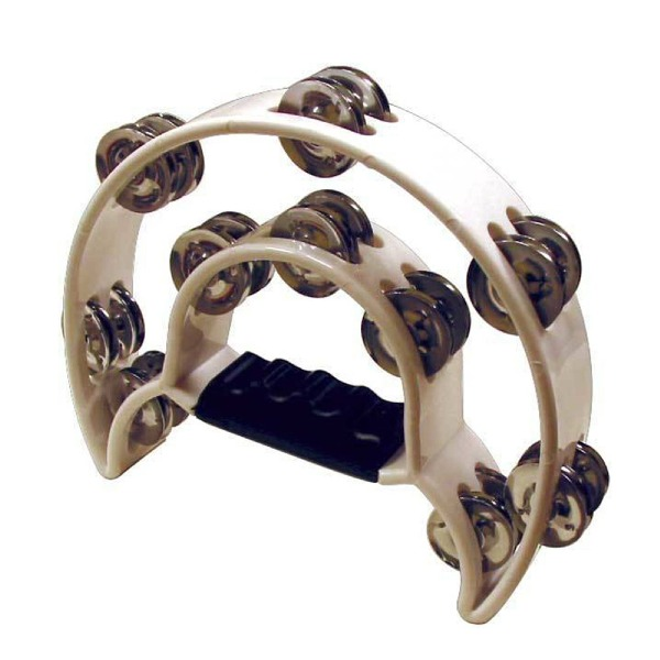 undefined Tambourine double blanc Mano Percussion MP-TDC-BK