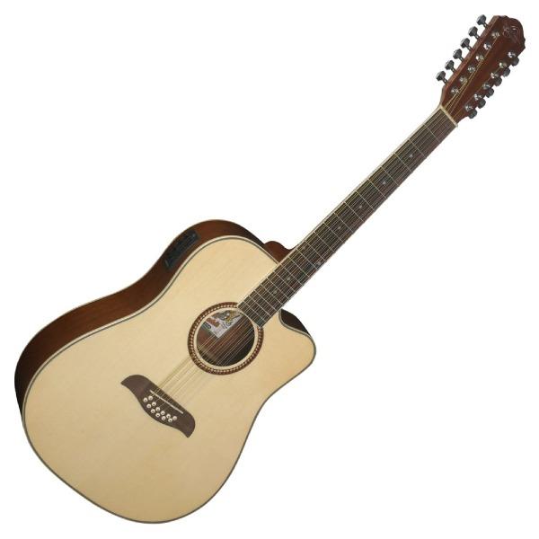 undefined Guitare electro-acoustique 12 cordes Oscar Schmidt OD312CE-A