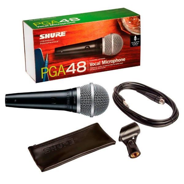 undefined Microphone Shure PGA48 avec cable 1/4