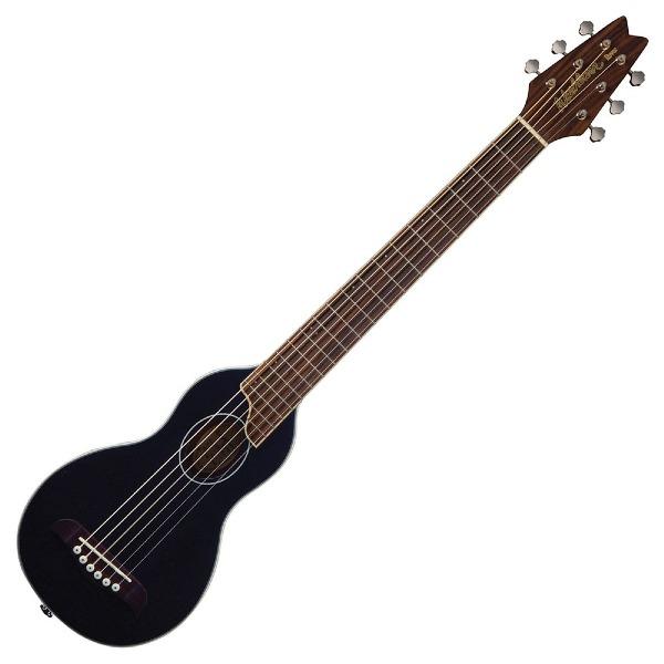 undefined Guitare acoustique de voyage noir avec étuis rigide Washburn RO10-BK