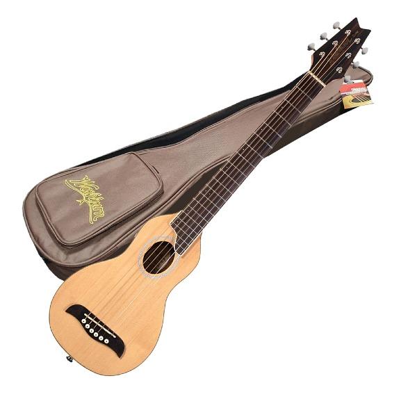 undefined Guitare acoustique de voyage naturel avec étuis rigide Washburn RO10-NAT